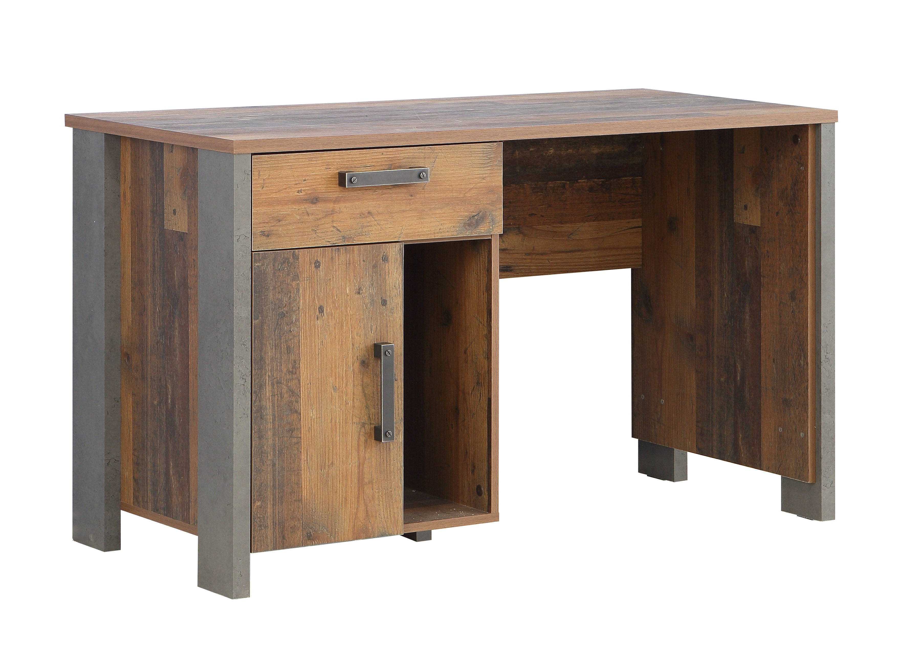 Schreibtisch vintage  Schreibtisch CLIF von Forte Old-Wood Vintage / Beton