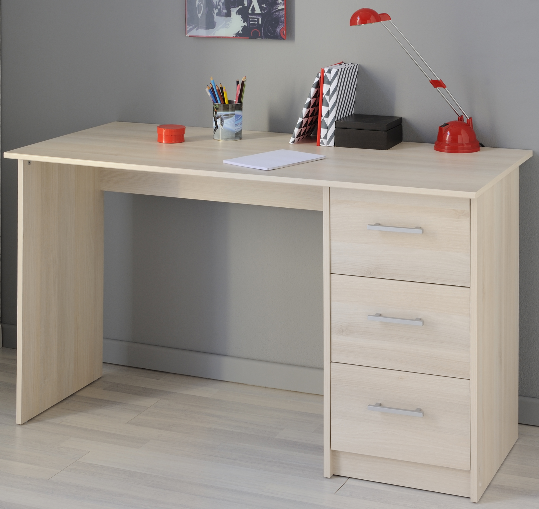 Schreibtisch 3 Schubkästen Infinity 103 von Parisot Akazie