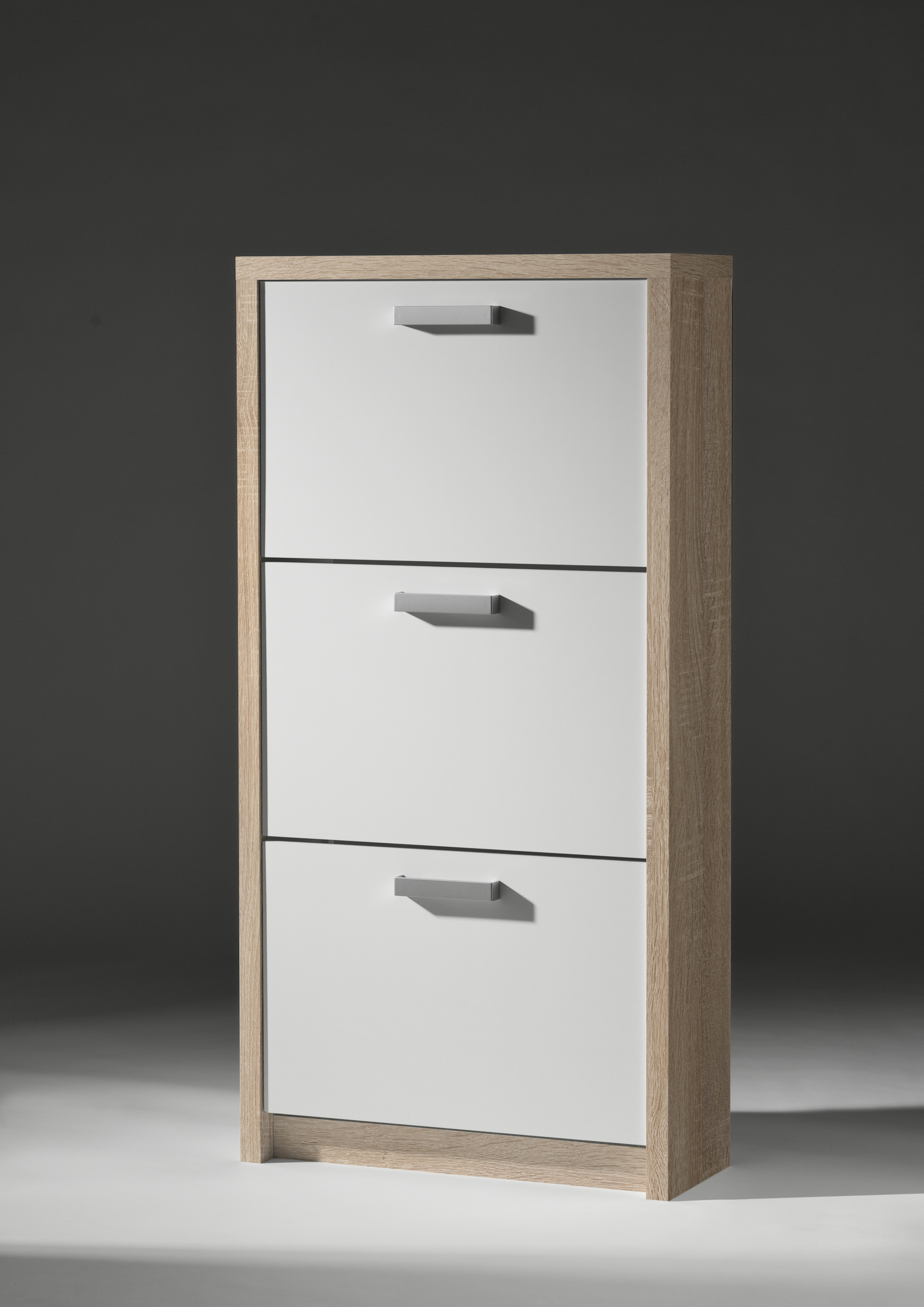 schuhkipper big schuhschrank 3 klappen 18 paar eiche. Black Bedroom Furniture Sets. Home Design Ideas