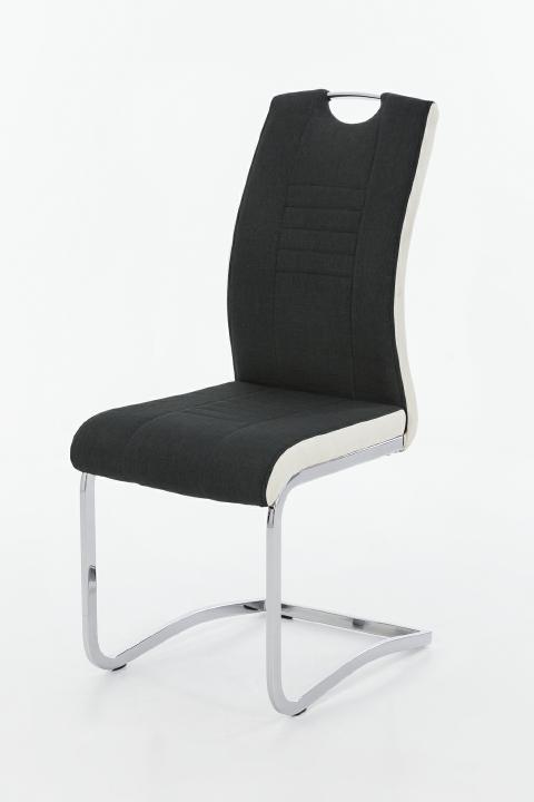 schwingstuhl 4er set tabea s schwarz weiss b h t 44. Black Bedroom Furniture Sets. Home Design Ideas