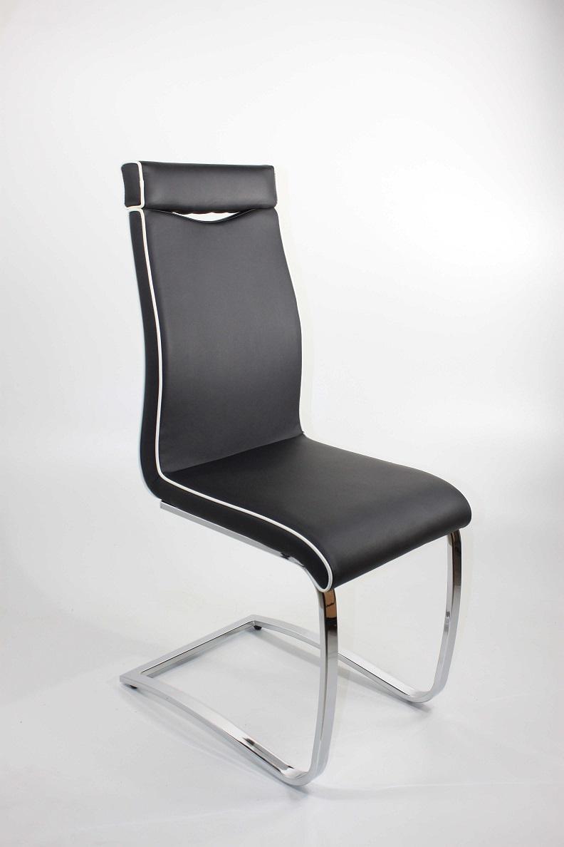schwingstuhl lisa ergonomisch in 4er set schwarz wei