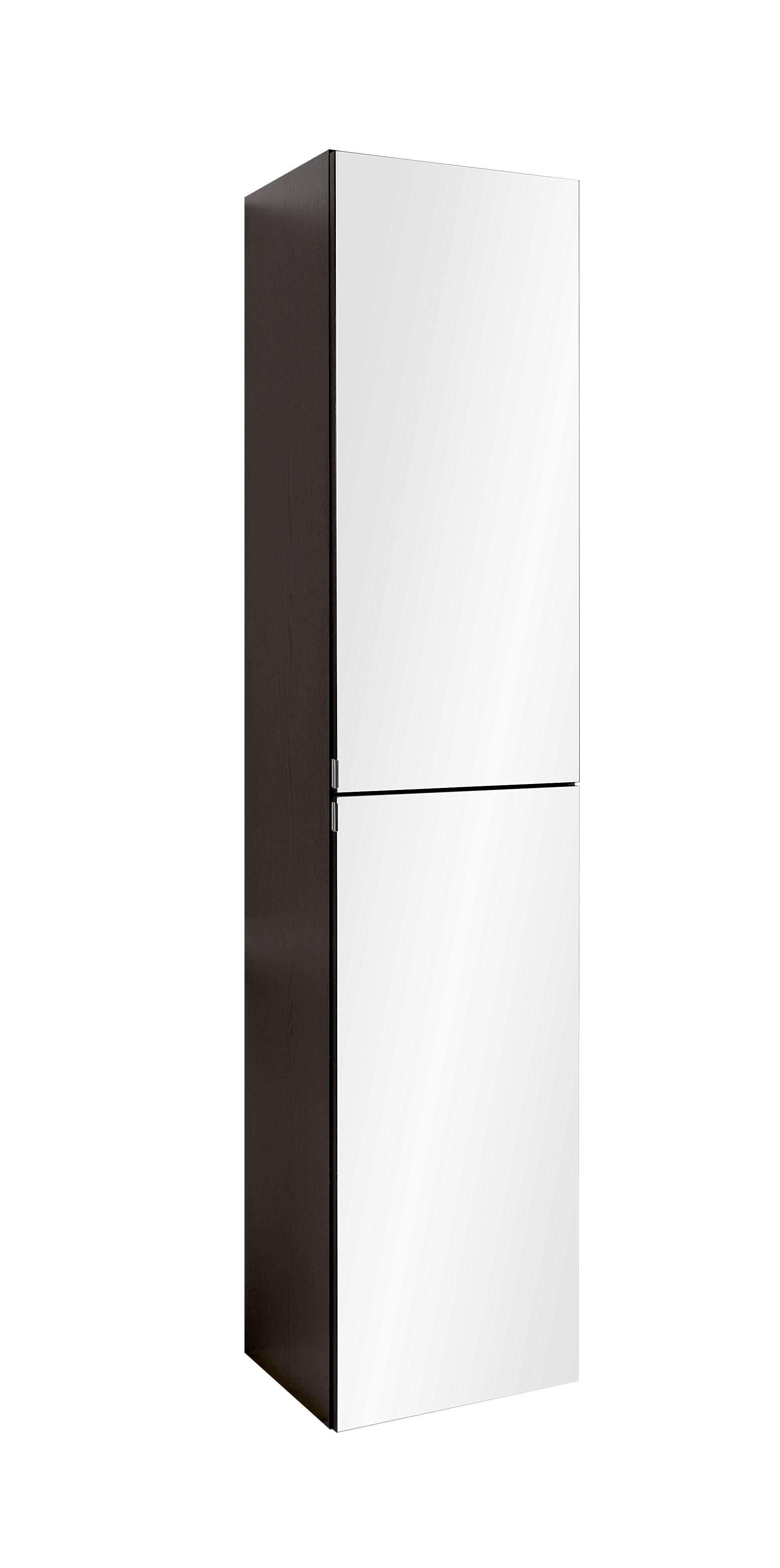 Seitenschrank 40 mit Spiegeltür Florida von Held Möbel Eiche rauchsilber / Graphitgrau