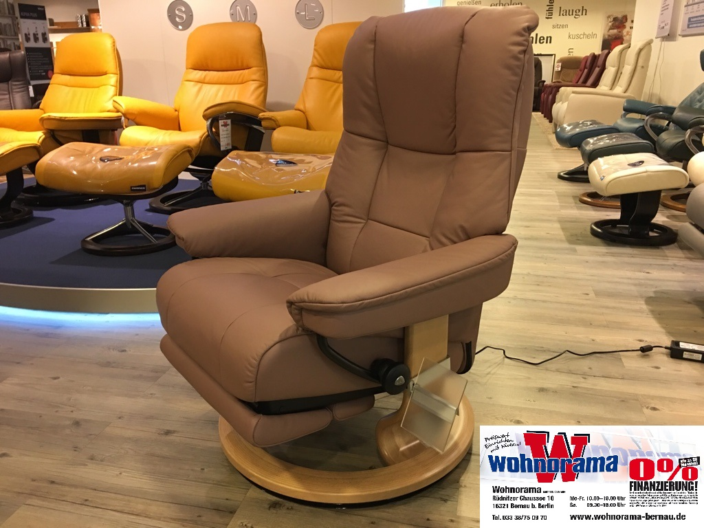 ekornes sessel inkl motorisch verstellbarer fu st tze stressless mayfair m classic hellbraun. Black Bedroom Furniture Sets. Home Design Ideas