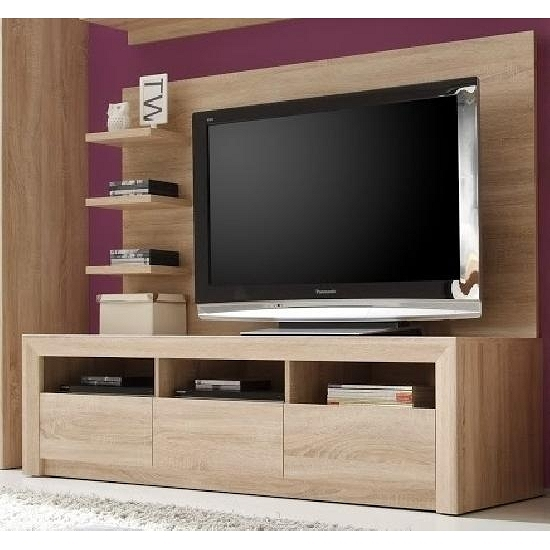 tv unterschrank breit sevilla von trendteam eiche s gerau. Black Bedroom Furniture Sets. Home Design Ideas
