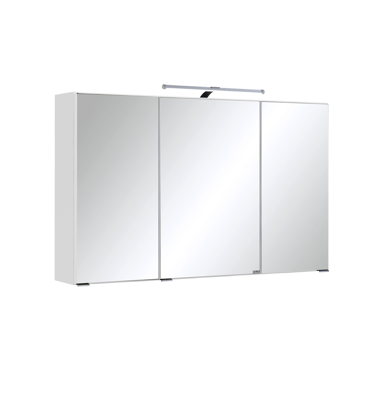 Hervorragend Spiegelschrank 100 inkl LED Beleuchtung Florida von Held Möbel Weiß TA49