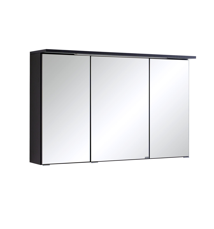 spiegelschrank 100 inkl led einbauleuchte bologna von held m bel graphit by ebay. Black Bedroom Furniture Sets. Home Design Ideas