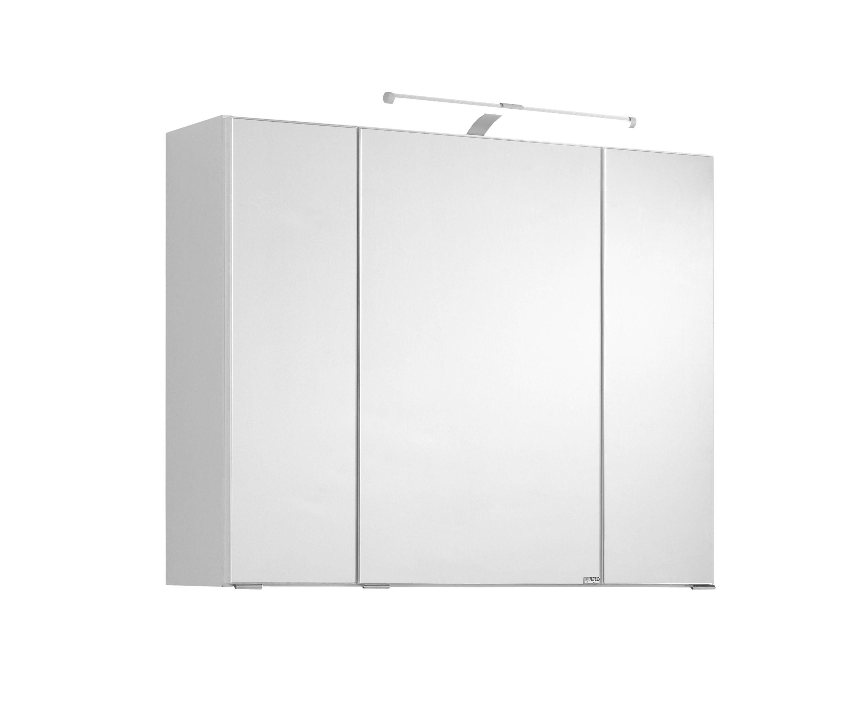 Spiegelschrank 80 inkl LED Beleuchtung Cardiff von Held Möbel Weiß