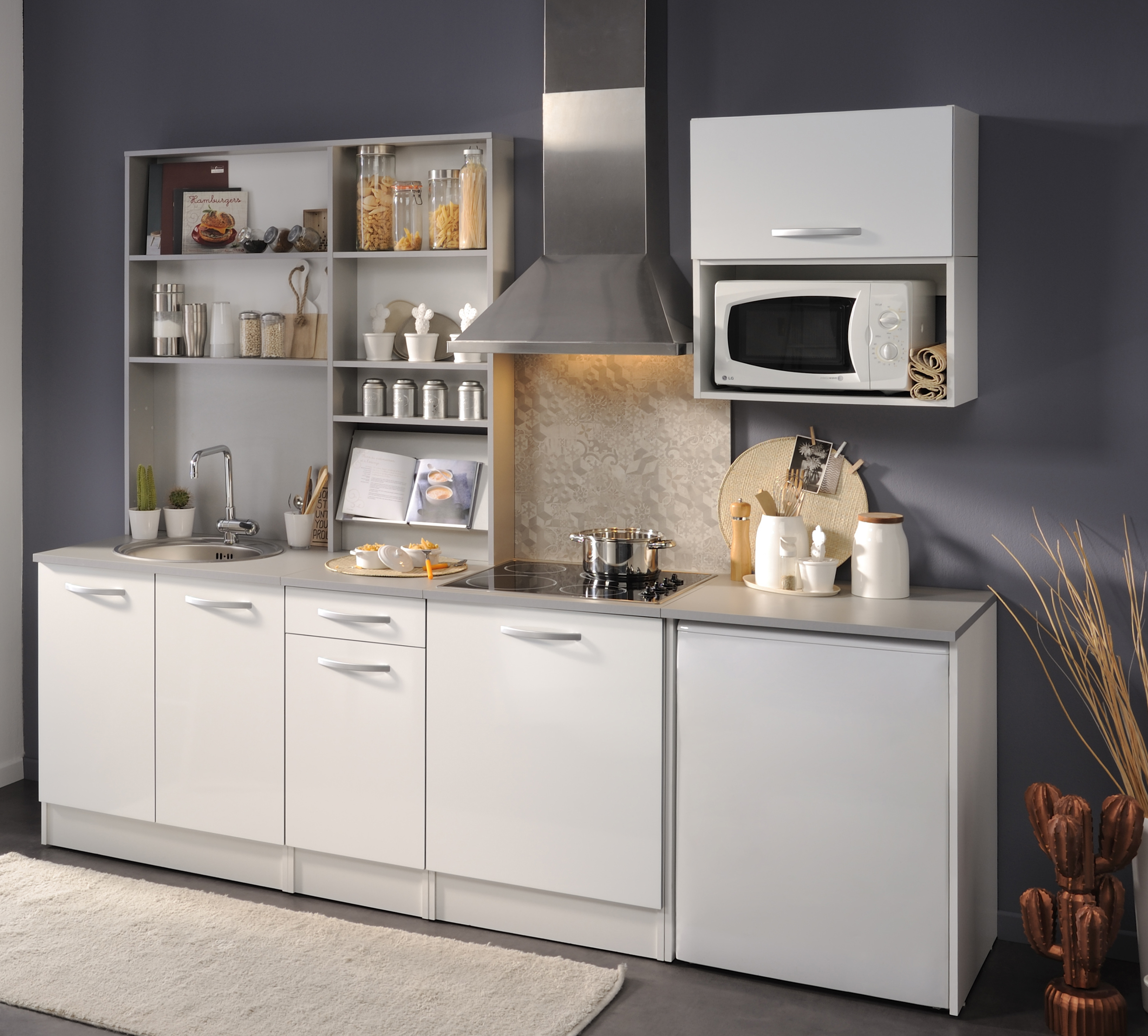 Küchenblock ohne E-Geräte u Spüle Spoon Natura 1 von Parisot ...
