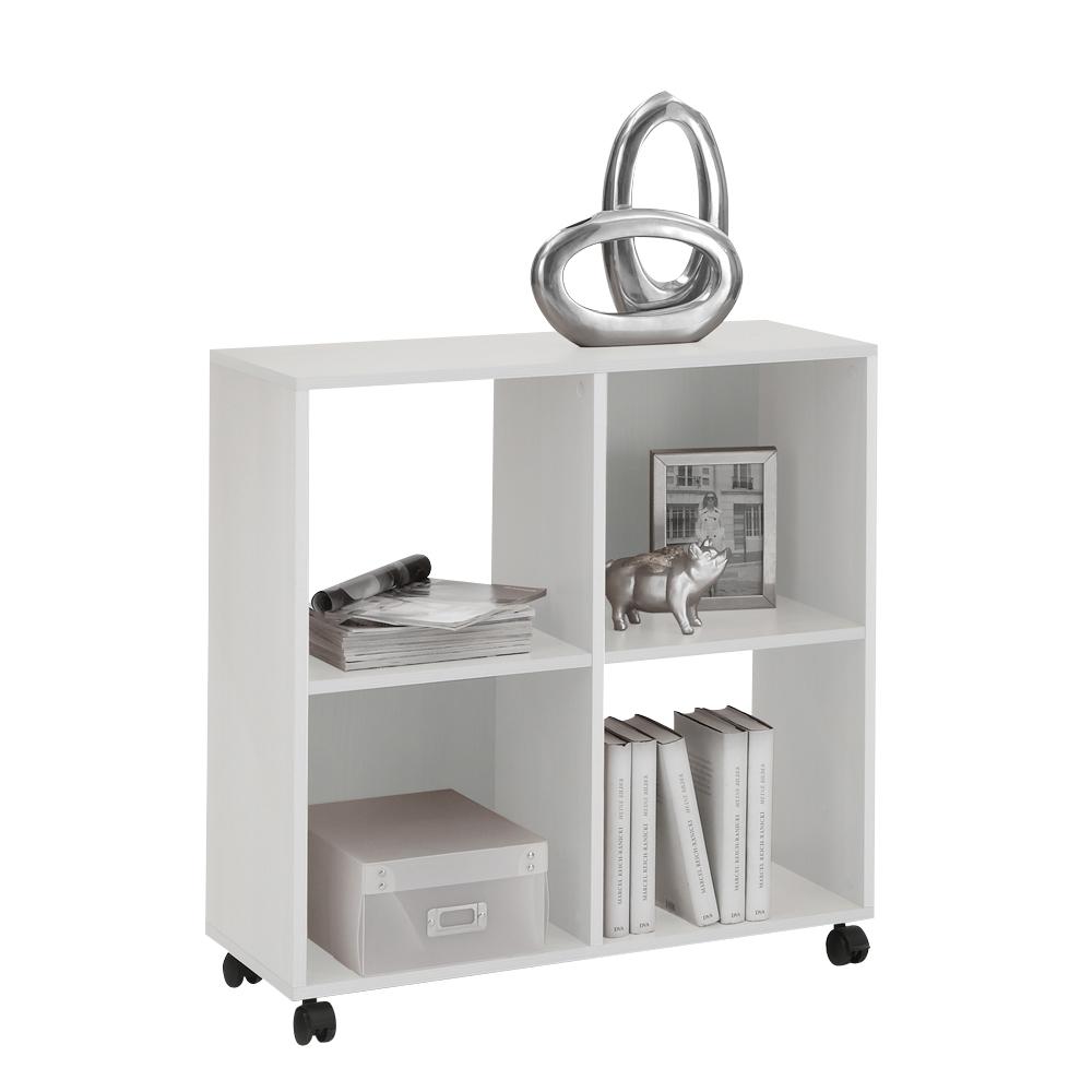 sprint regal mit 4 f chern auf rollen wei. Black Bedroom Furniture Sets. Home Design Ideas