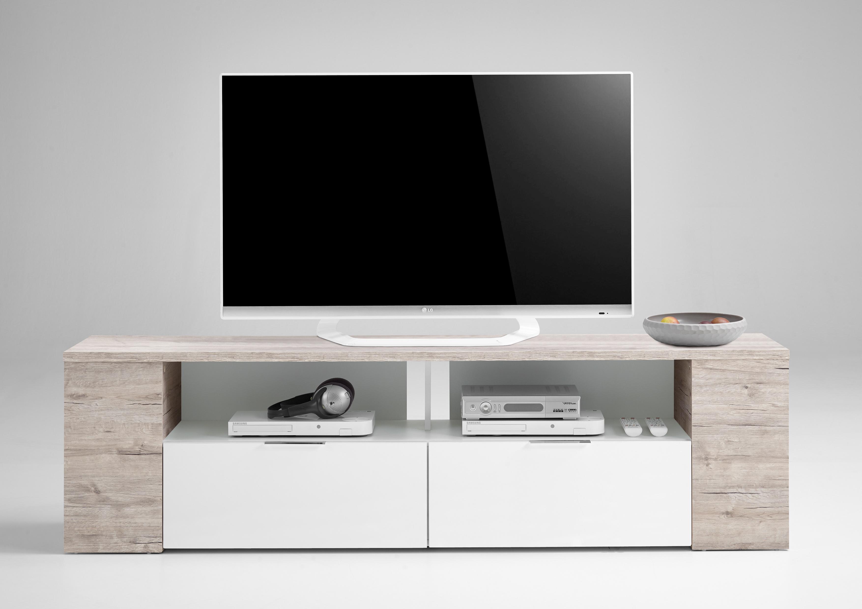 TABOR 2 TV/Hifi Element Sandeiche Nb/weiß