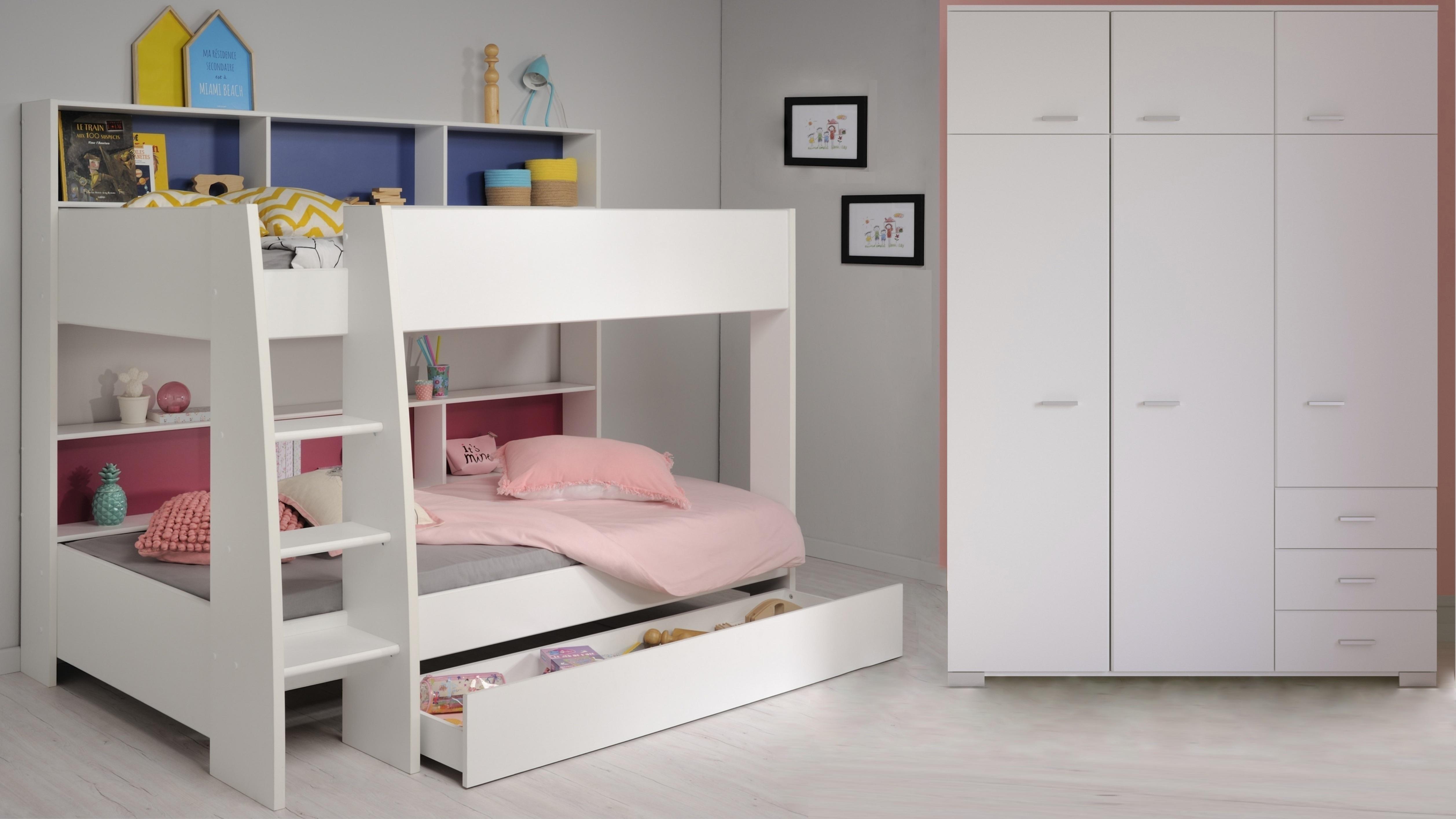 Etagenbett Tam Tam : Kinderzimmer tlg inkl etagenbett tam von parisot weiss