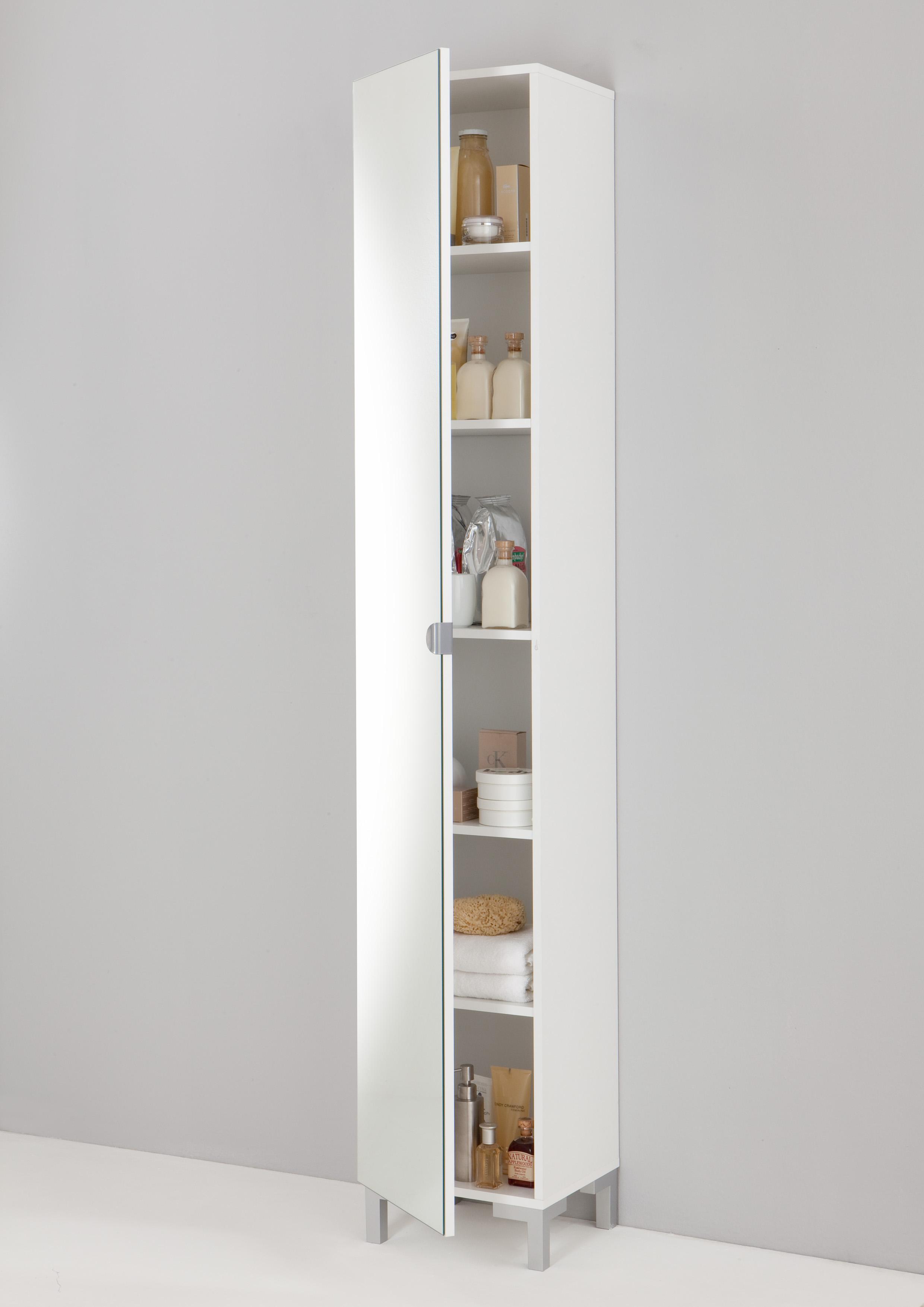 bad-spiegelschrank tarragona weiß weiß   b/h/t: 34 / 196 / 32