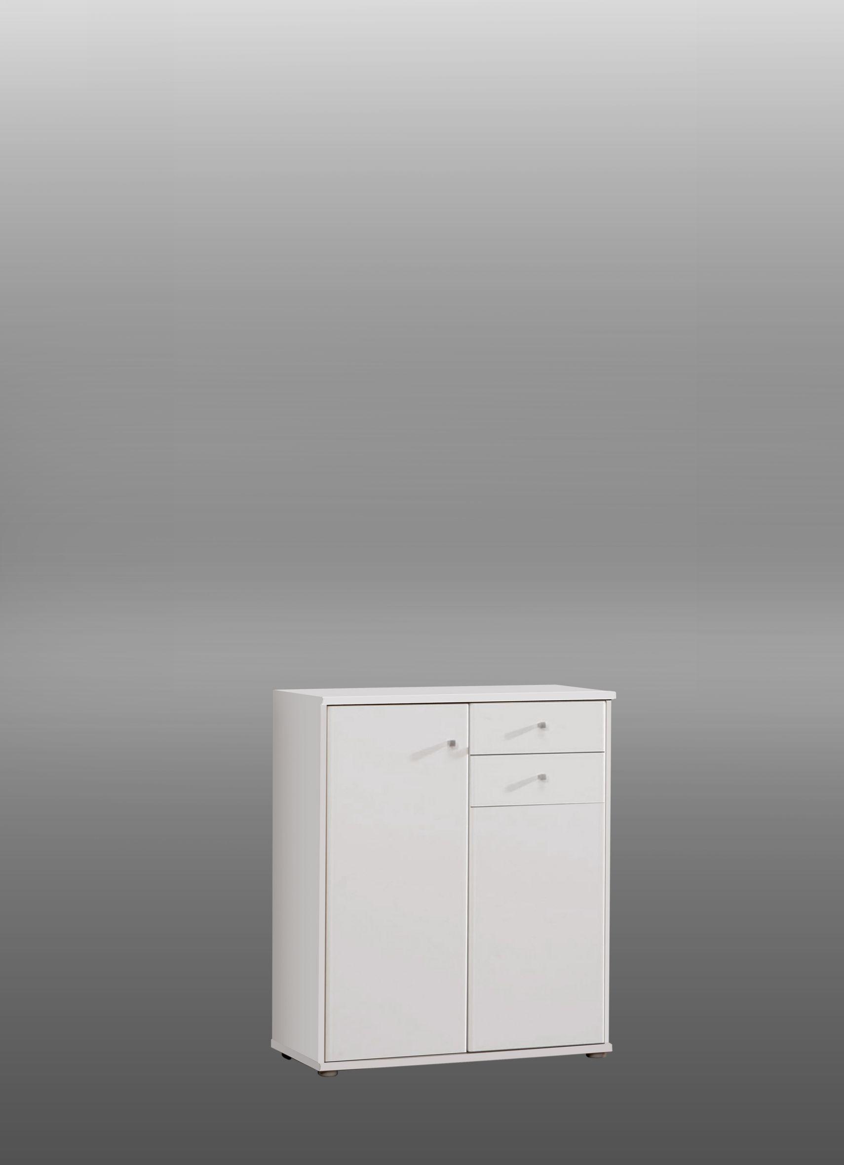 Kommode Tempra 2-türig mit 2 SK Weiß