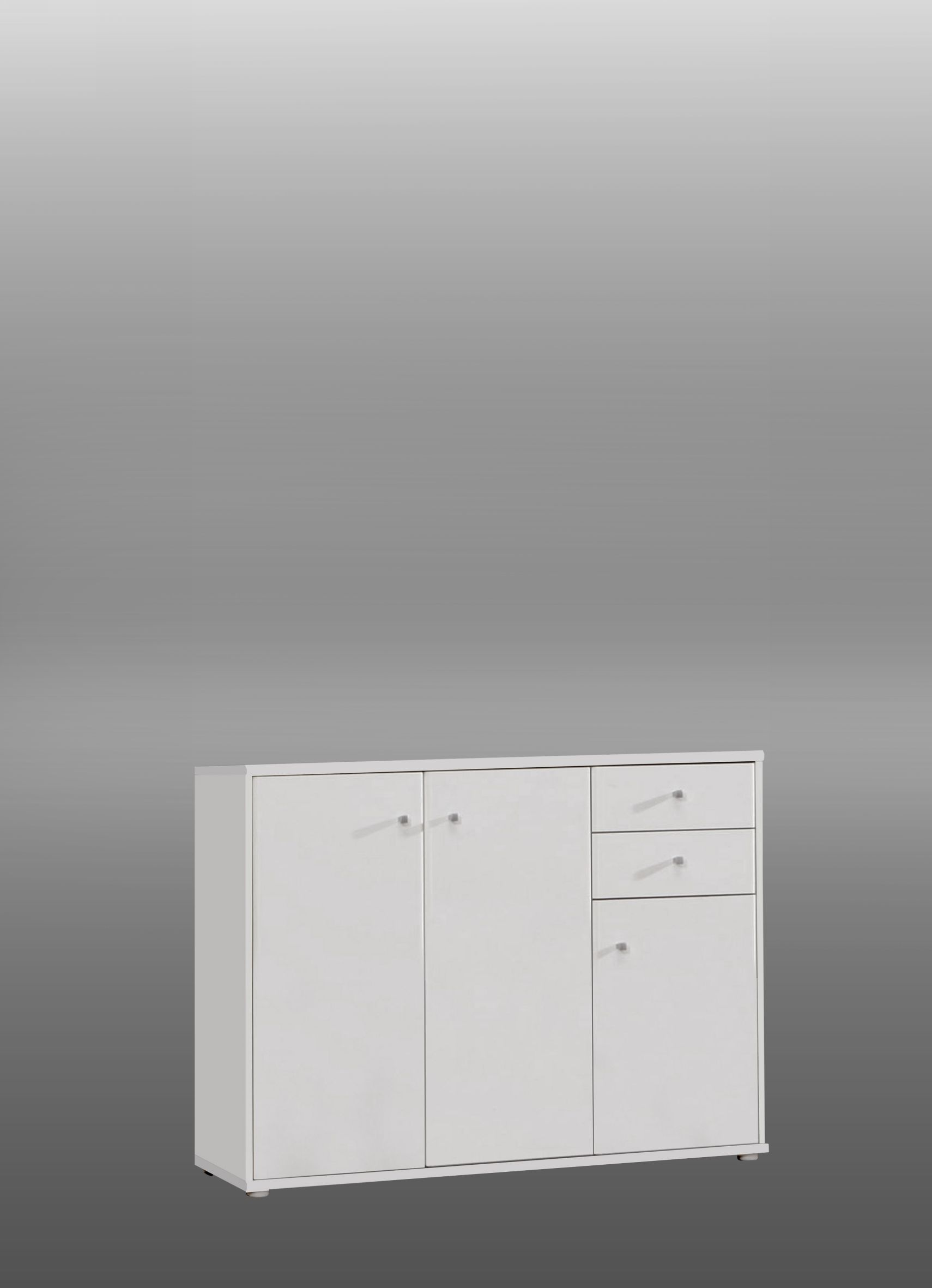 Kommode Tempra 3-türig mit 2 SK Weiß