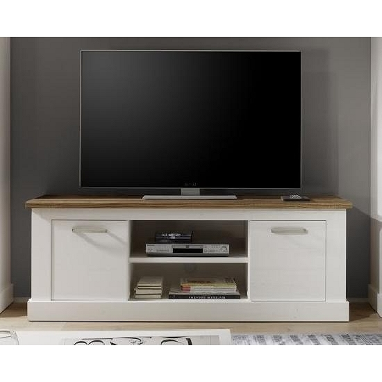 tv unterschrank toronto von trendteam pinie wei struktur. Black Bedroom Furniture Sets. Home Design Ideas