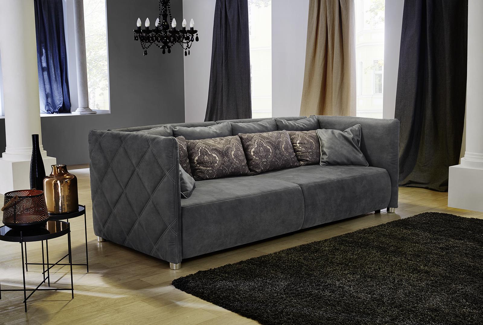 Big Sofa Treviso Kl Grau