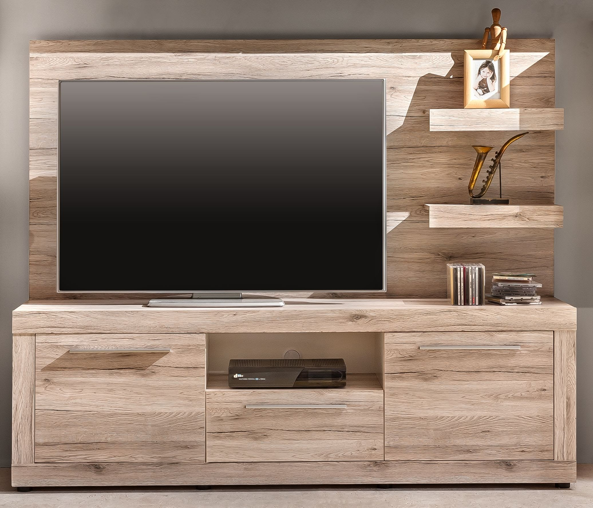 tv unterschrank passat von trendteam eiche san remo sand. Black Bedroom Furniture Sets. Home Design Ideas