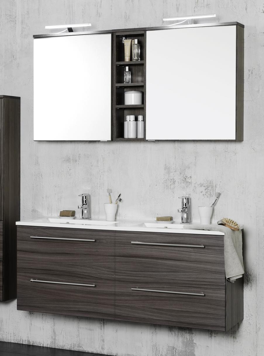 waschtisch set 120 2 tlg mailand inkl beleuchtung von held. Black Bedroom Furniture Sets. Home Design Ideas