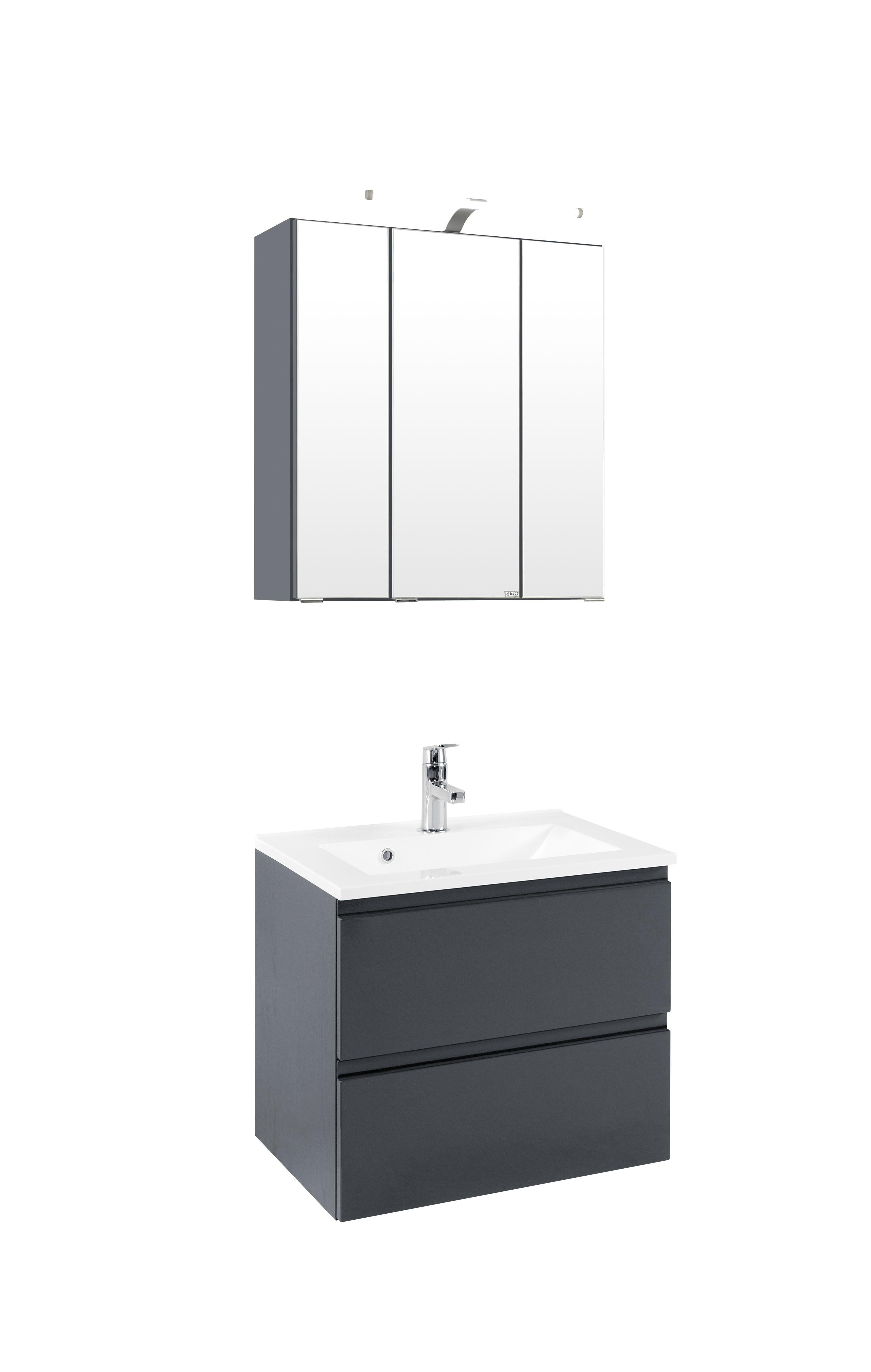 waschtisch set waschplatz unterschrank schrank komplett set bad m bel ebay. Black Bedroom Furniture Sets. Home Design Ideas