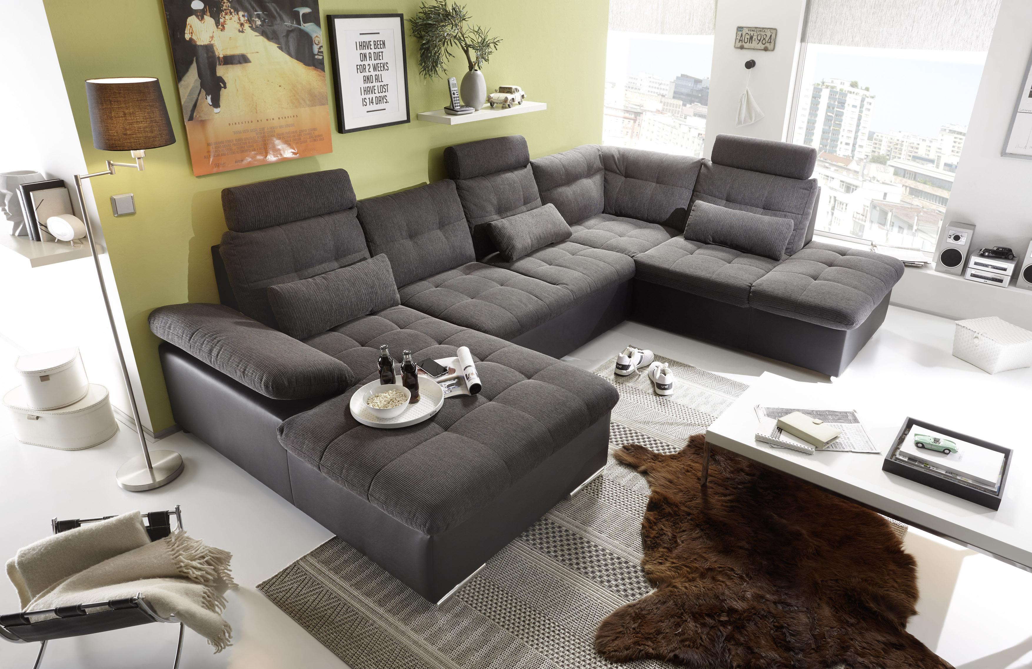 wohnlandschaft jakarta mit 2 recamiere und bettkasten. Black Bedroom Furniture Sets. Home Design Ideas