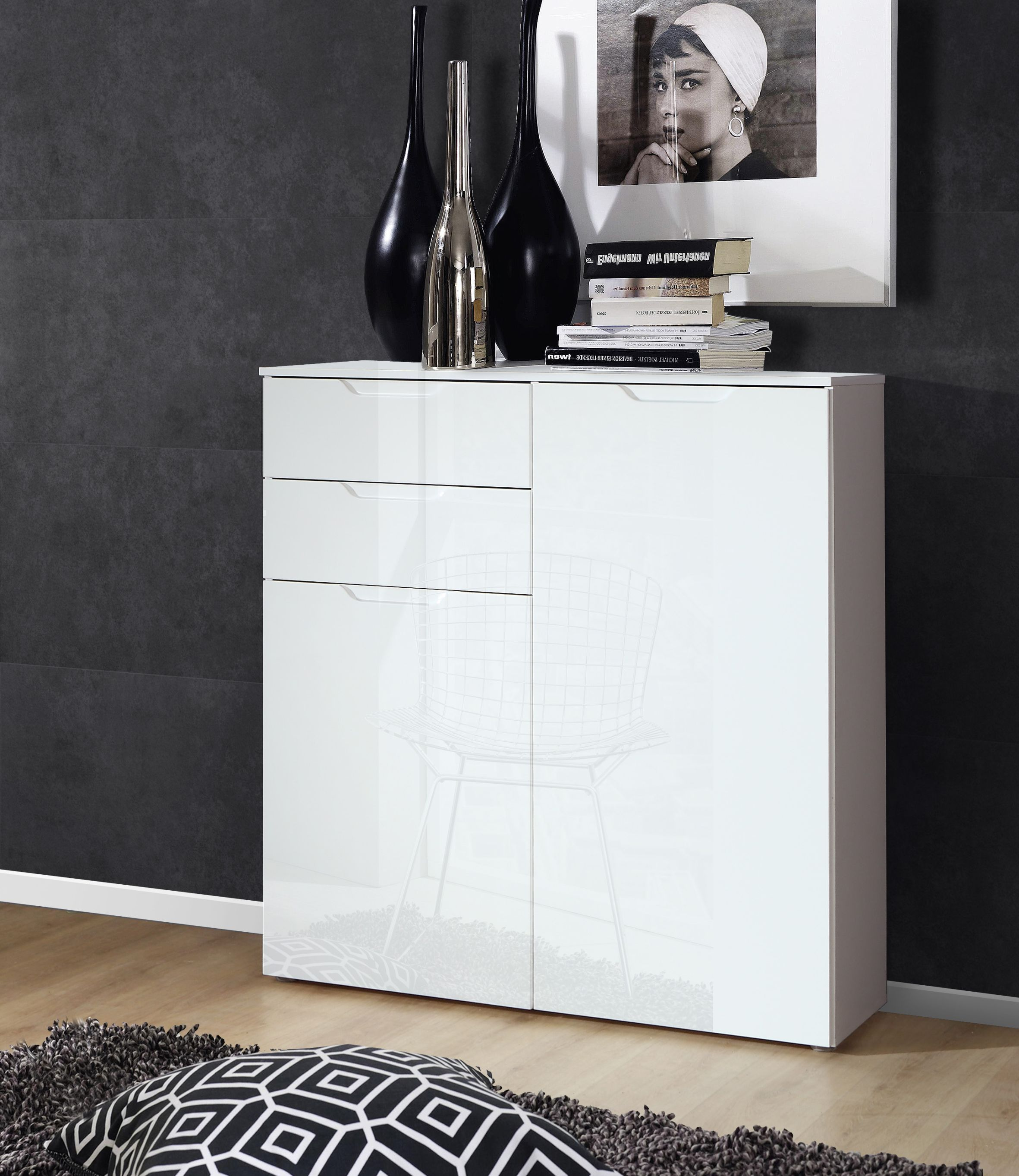 wohnzimmer highboard sienna kommode. Black Bedroom Furniture Sets. Home Design Ideas