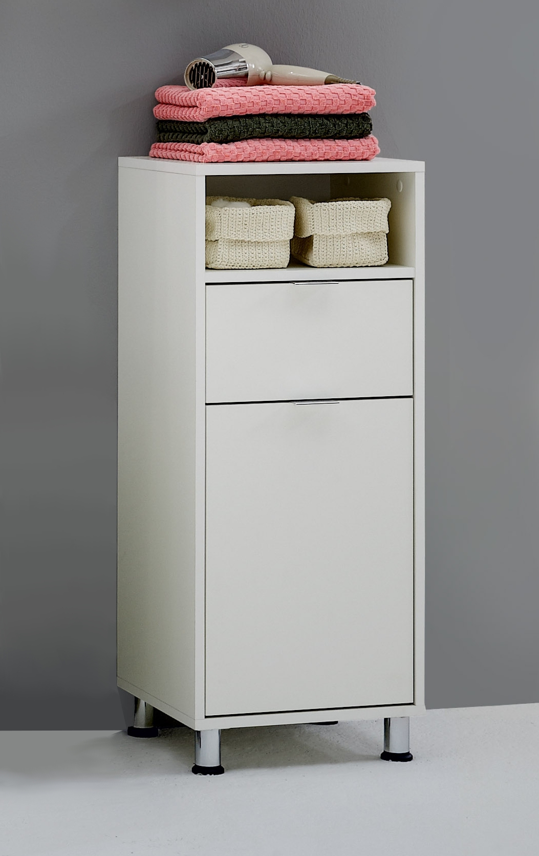 ZAMORA 2 Badezimmer-Kommode weiß