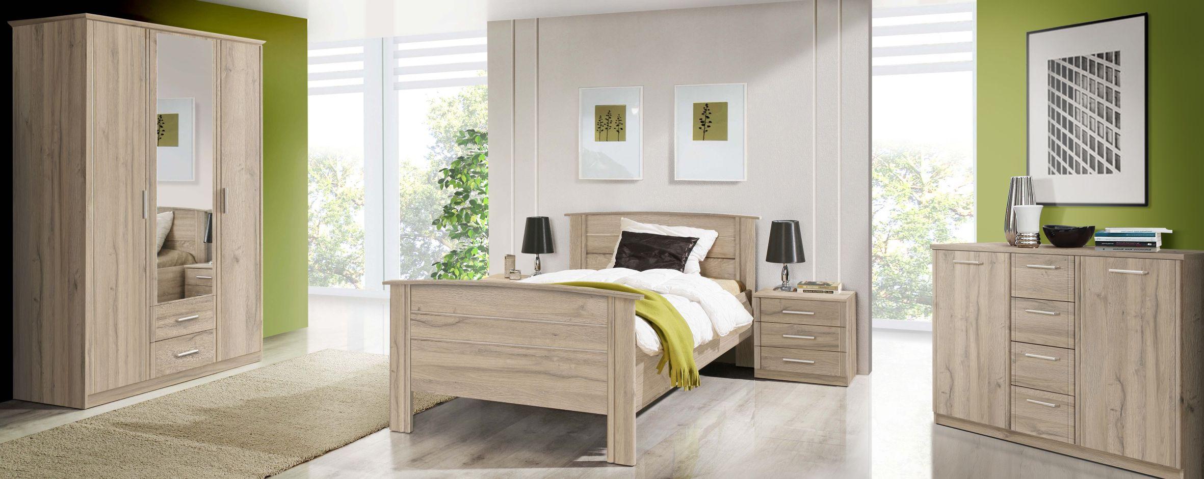 100x200 Bett Gloria Von Forte Bianco Eiche