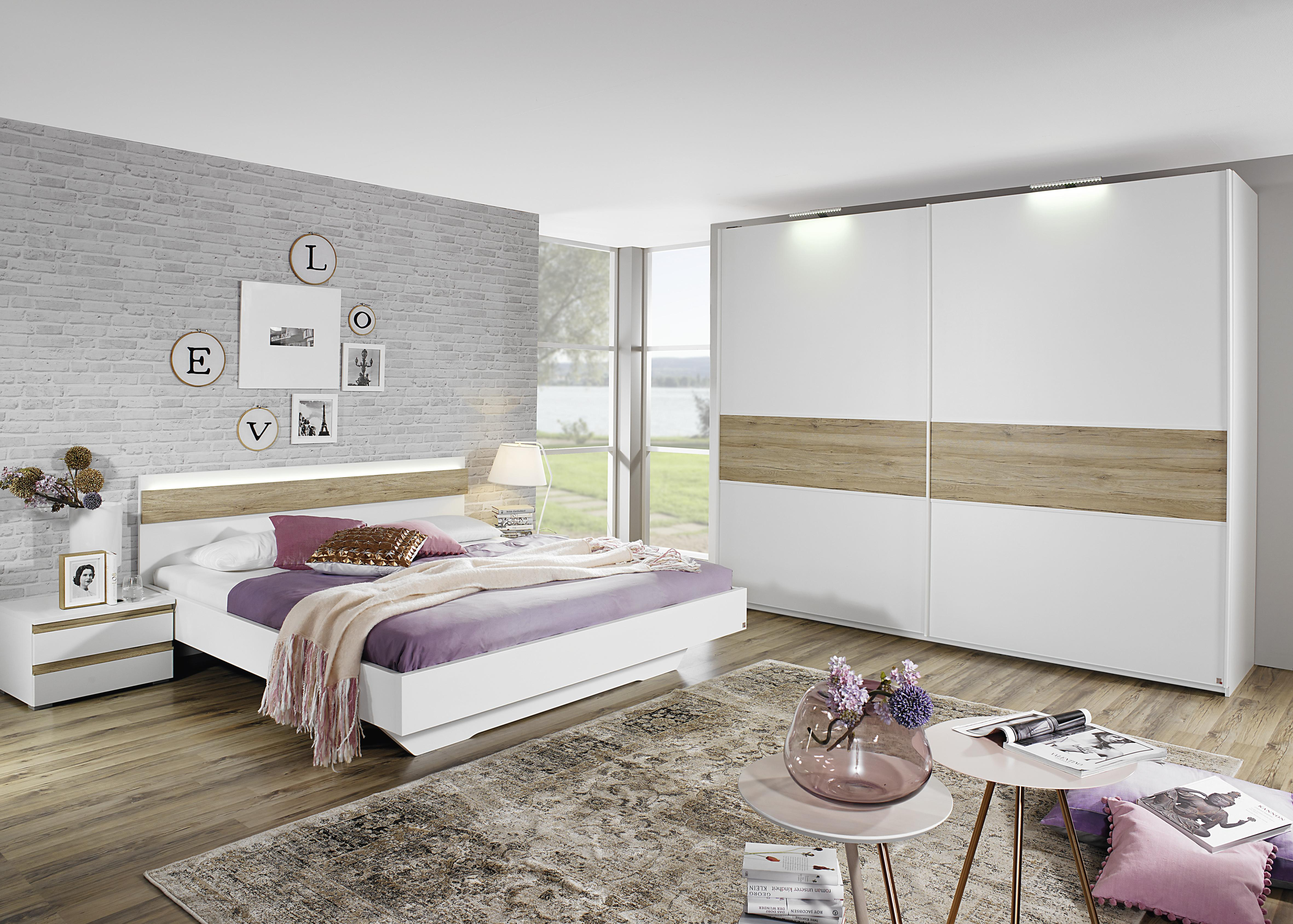 200x200 bett mara von rauch dialog alpinwei eiche. Black Bedroom Furniture Sets. Home Design Ideas