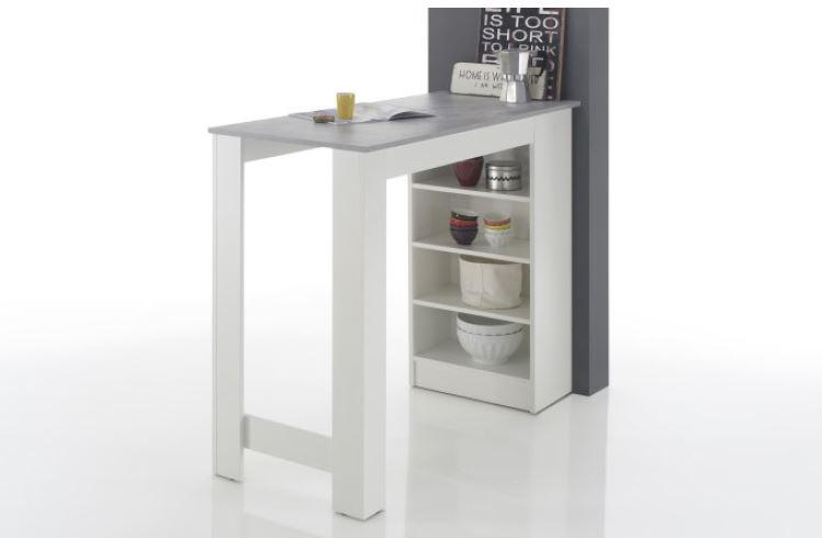bartisch inkl regal mojito von stolkom weiss beton. Black Bedroom Furniture Sets. Home Design Ideas