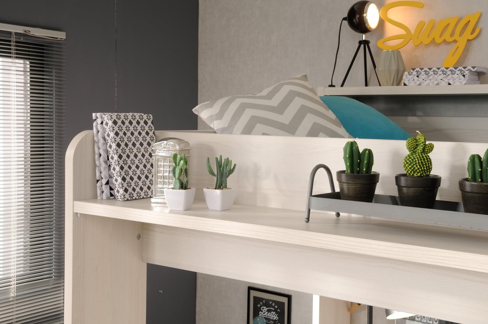 90x200 hochbett inkl integrierter schreibtisch u schrank. Black Bedroom Furniture Sets. Home Design Ideas