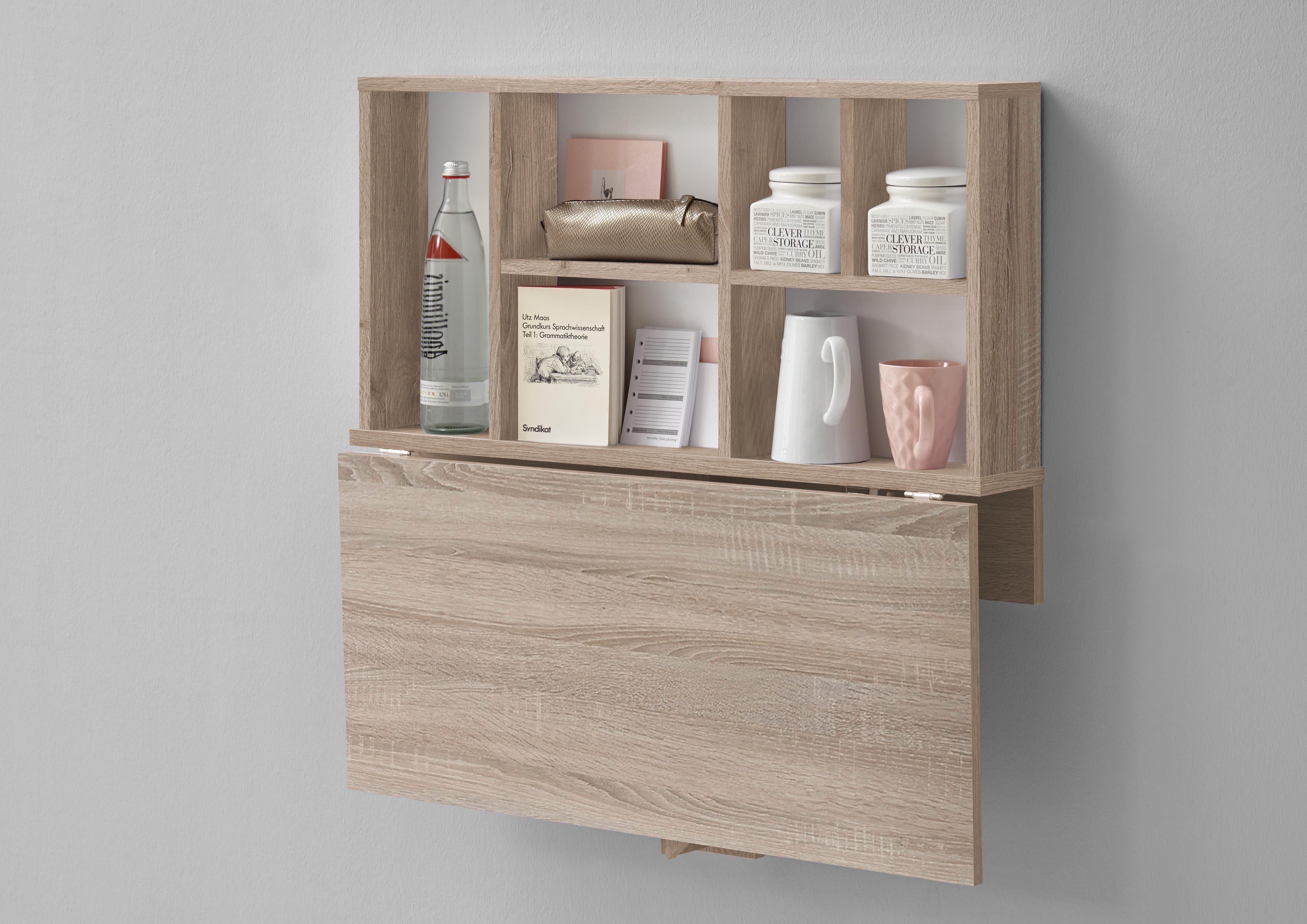 arta 2 klapptisch inkl regal von fmd eiche weiss. Black Bedroom Furniture Sets. Home Design Ideas