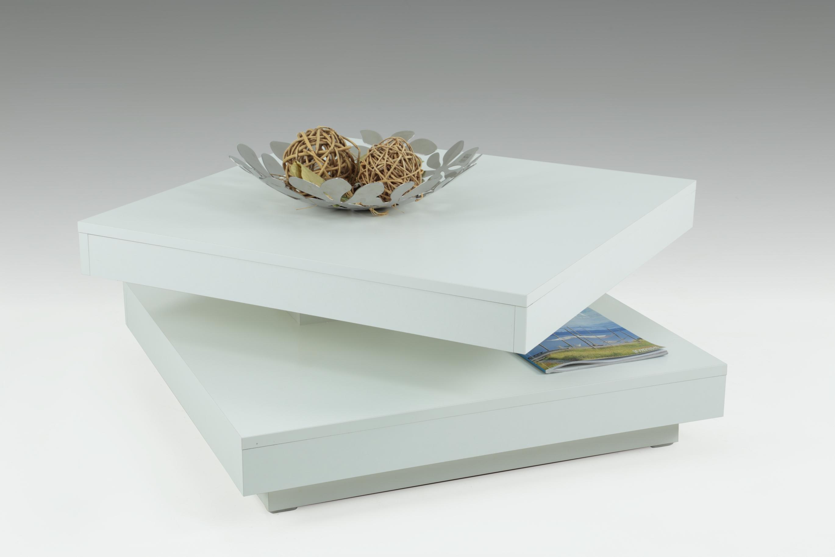 Couchtisch 360 drehbar ben von hela weiss for Beistelltisch 100x100
