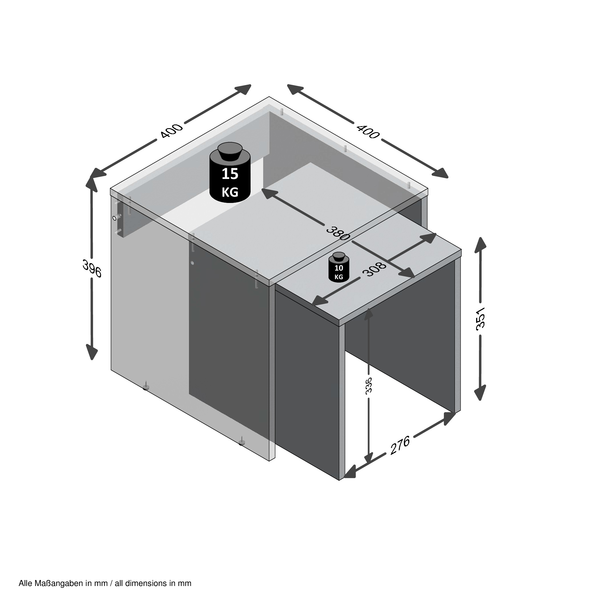 Bornholm beistelltisch 2er set ca 40 30 cm breit von for Beistelltisch 30 cm breit