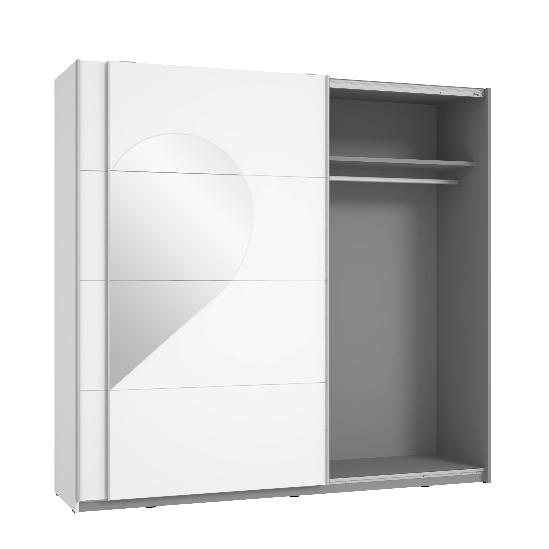 schwebet renschrank mit spiegel herzf rmig cora von forte weiss hgl. Black Bedroom Furniture Sets. Home Design Ideas