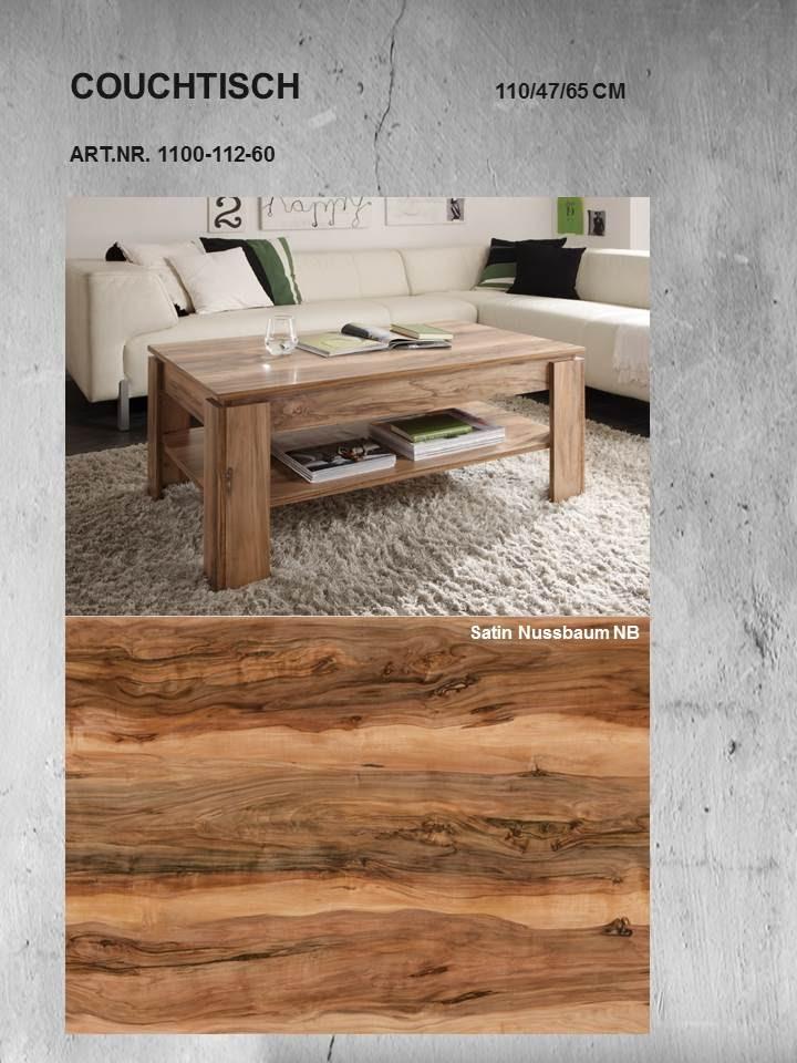couchtisch universal von trendteam nussbaum satin. Black Bedroom Furniture Sets. Home Design Ideas