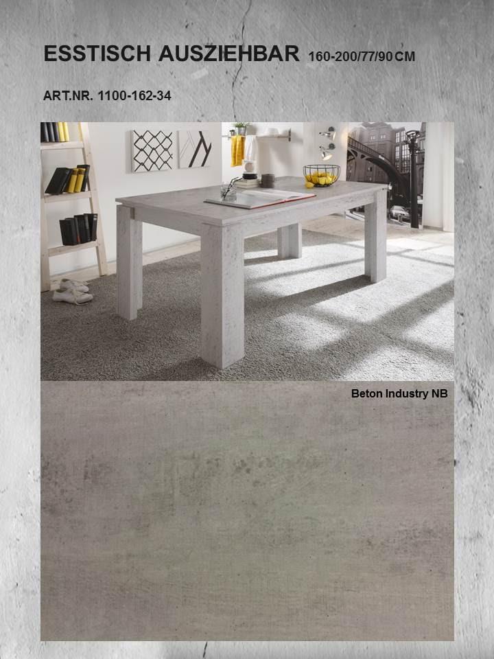 esstisch universal von trendteam beton industry. Black Bedroom Furniture Sets. Home Design Ideas