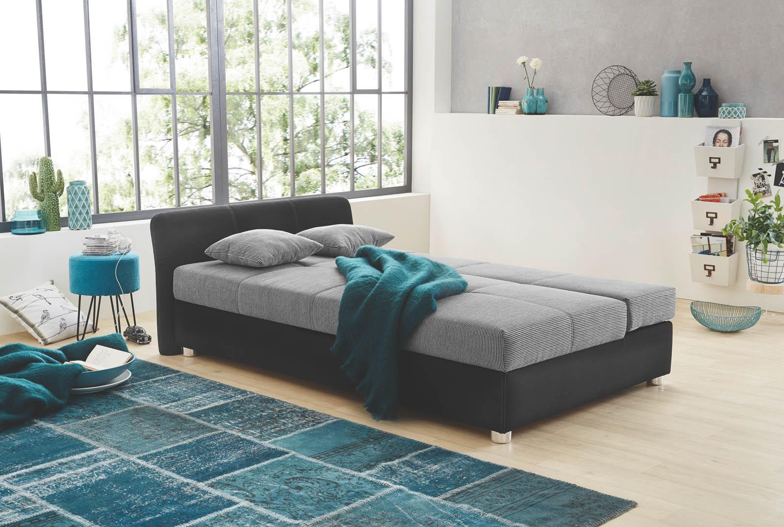 funktionssofa mit g stebettfkt und bettkasten camillo. Black Bedroom Furniture Sets. Home Design Ideas