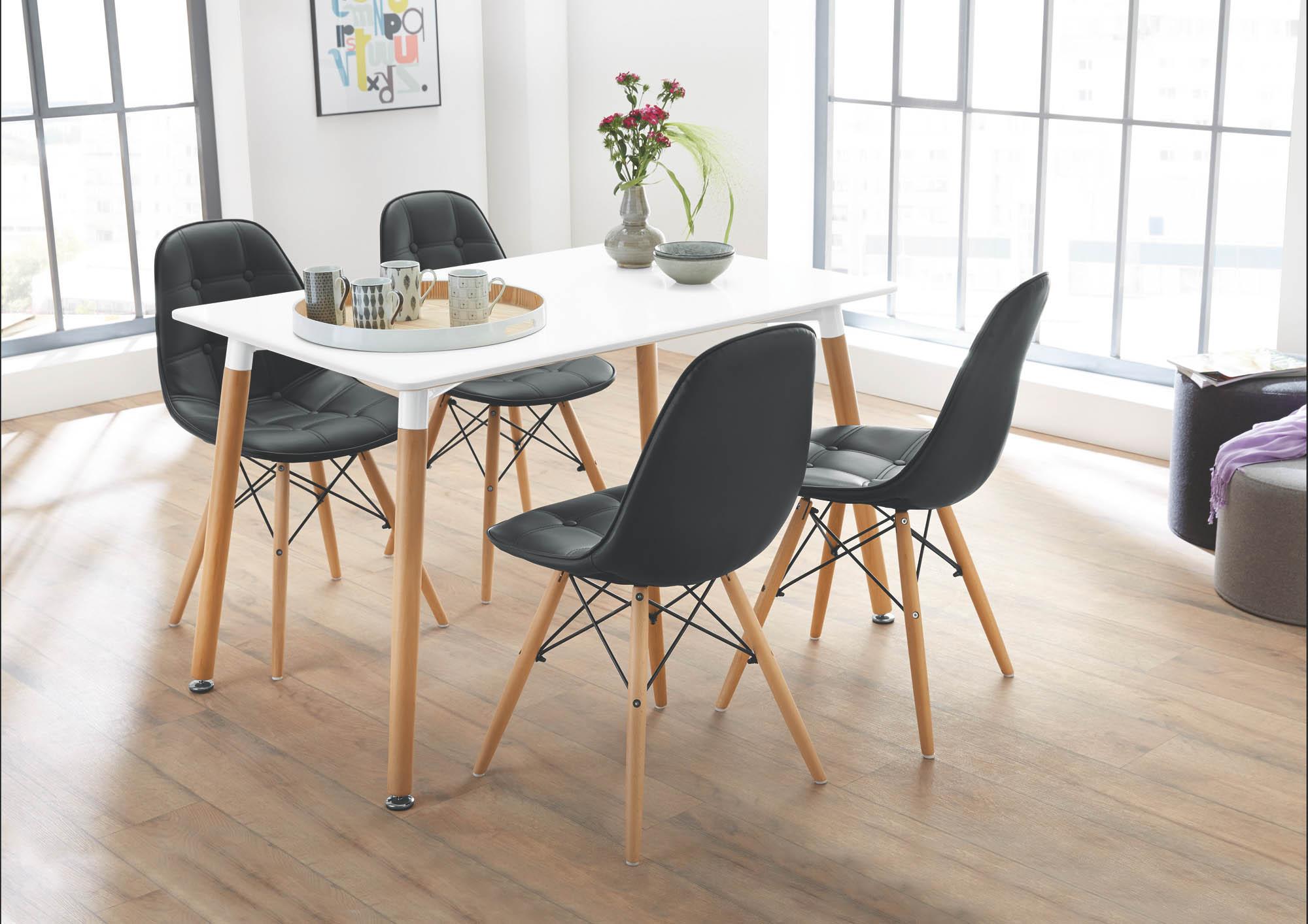 esstisch gr nland 2 120 x 80 cm von pro com weiss buche massiv. Black Bedroom Furniture Sets. Home Design Ideas