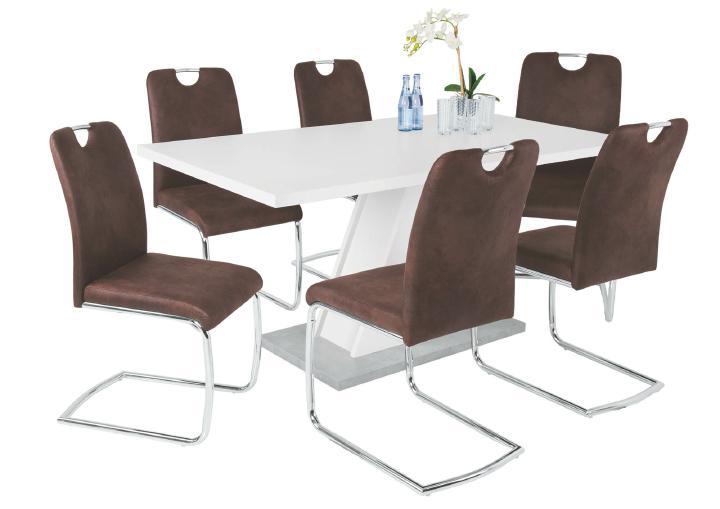 schwingstuhl 4er set kathrin ii von reality import dunkelbraun a. Black Bedroom Furniture Sets. Home Design Ideas