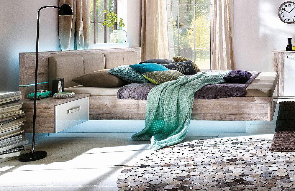 jugendzimmer 180x200 bettanlage rondino mit fu bank und beleuchtung. Black Bedroom Furniture Sets. Home Design Ideas