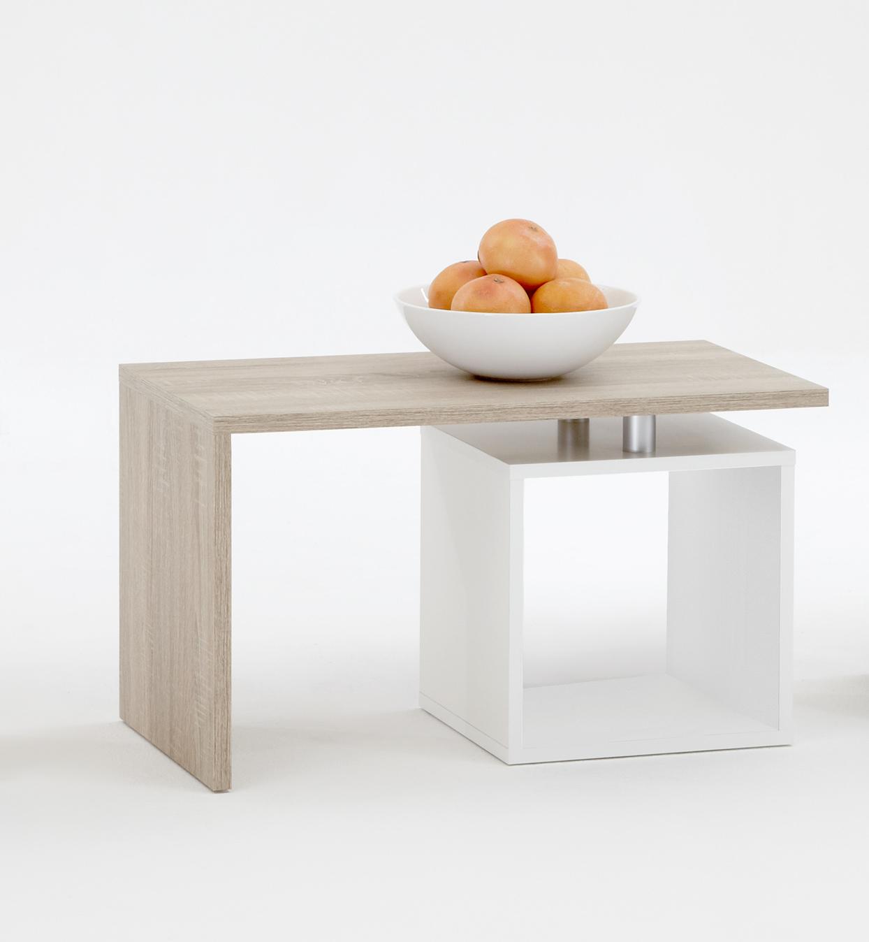 klara beistelltisch von fmd eiche wei. Black Bedroom Furniture Sets. Home Design Ideas