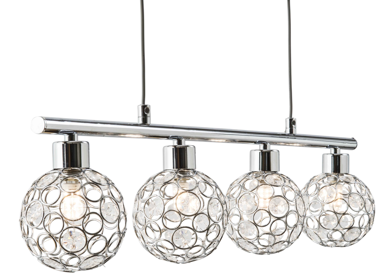 LED Jojo-Pendel 4-flg LARGO von Nino Chrom / klar