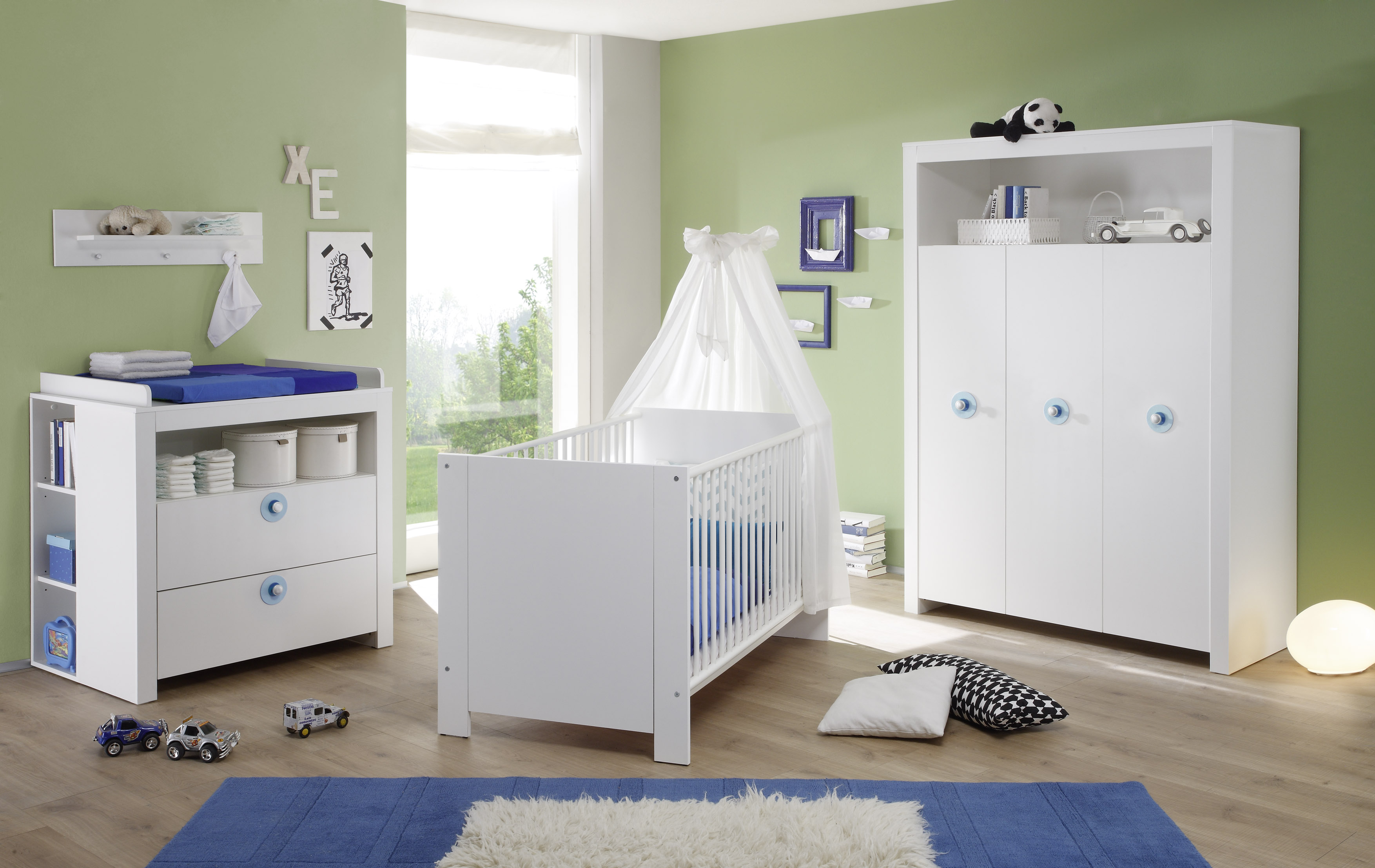 babyzimmerm bel olivia trendteam hellblau dunkelblau. Black Bedroom Furniture Sets. Home Design Ideas