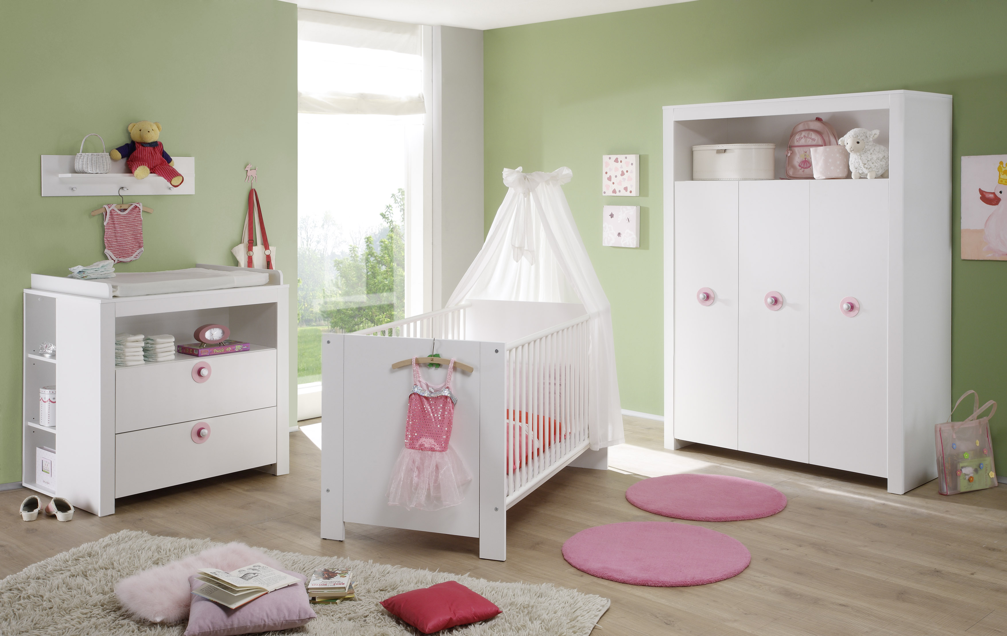 babyzimmerm bel olivia trendteam ros violett. Black Bedroom Furniture Sets. Home Design Ideas