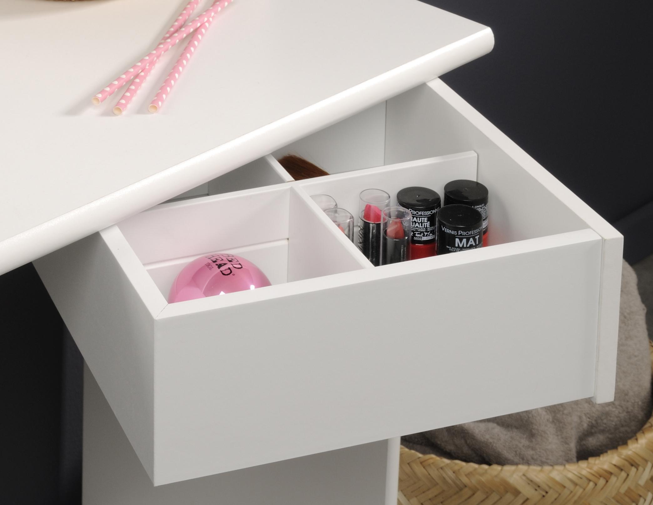 schminktisch inkl hocker pimpante 12 von parisot wei. Black Bedroom Furniture Sets. Home Design Ideas