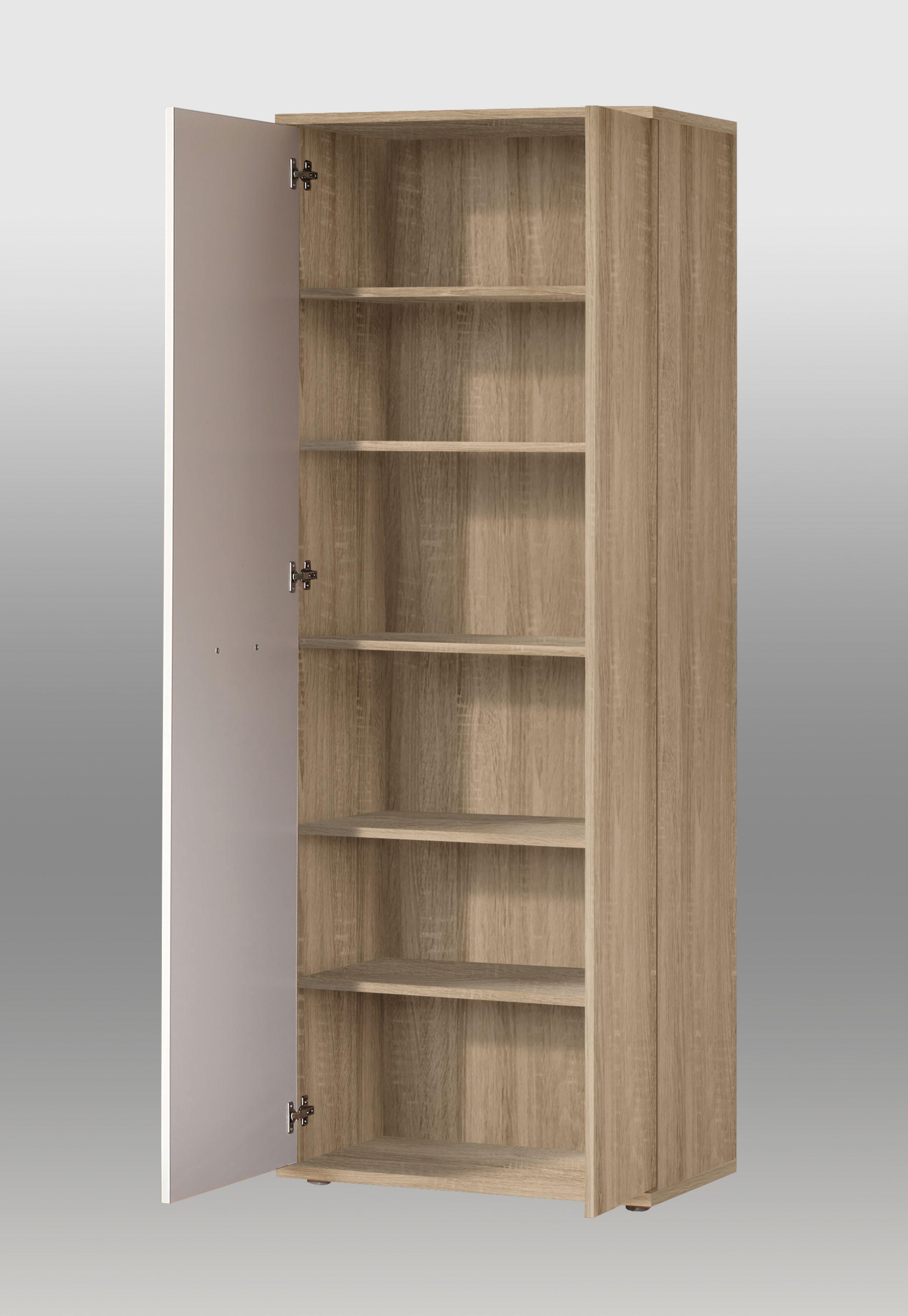 schuhschrank net 106 von forte sonoma eiche wei. Black Bedroom Furniture Sets. Home Design Ideas