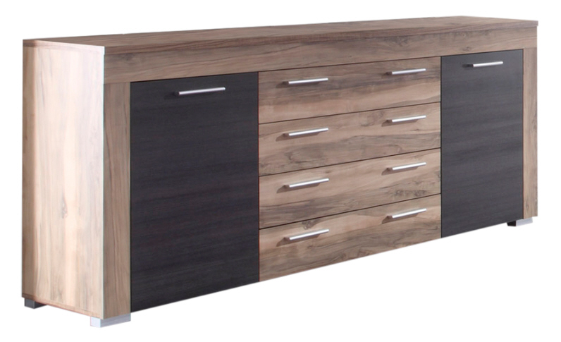 sideboard boom von trendteam nussbaum touchwood. Black Bedroom Furniture Sets. Home Design Ideas