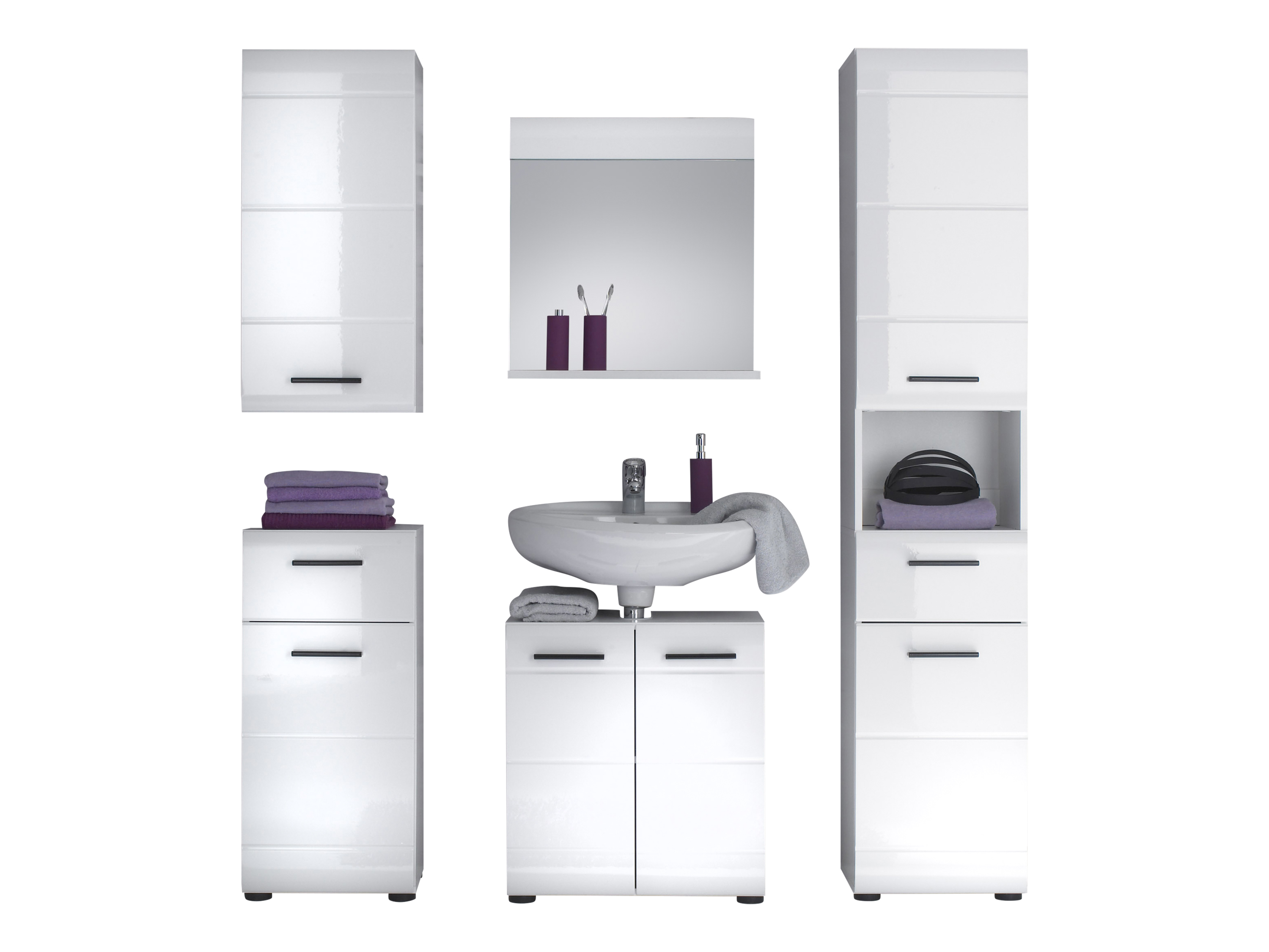 stauraumschrank weiss hochglanz 2 t ren ebay. Black Bedroom Furniture Sets. Home Design Ideas