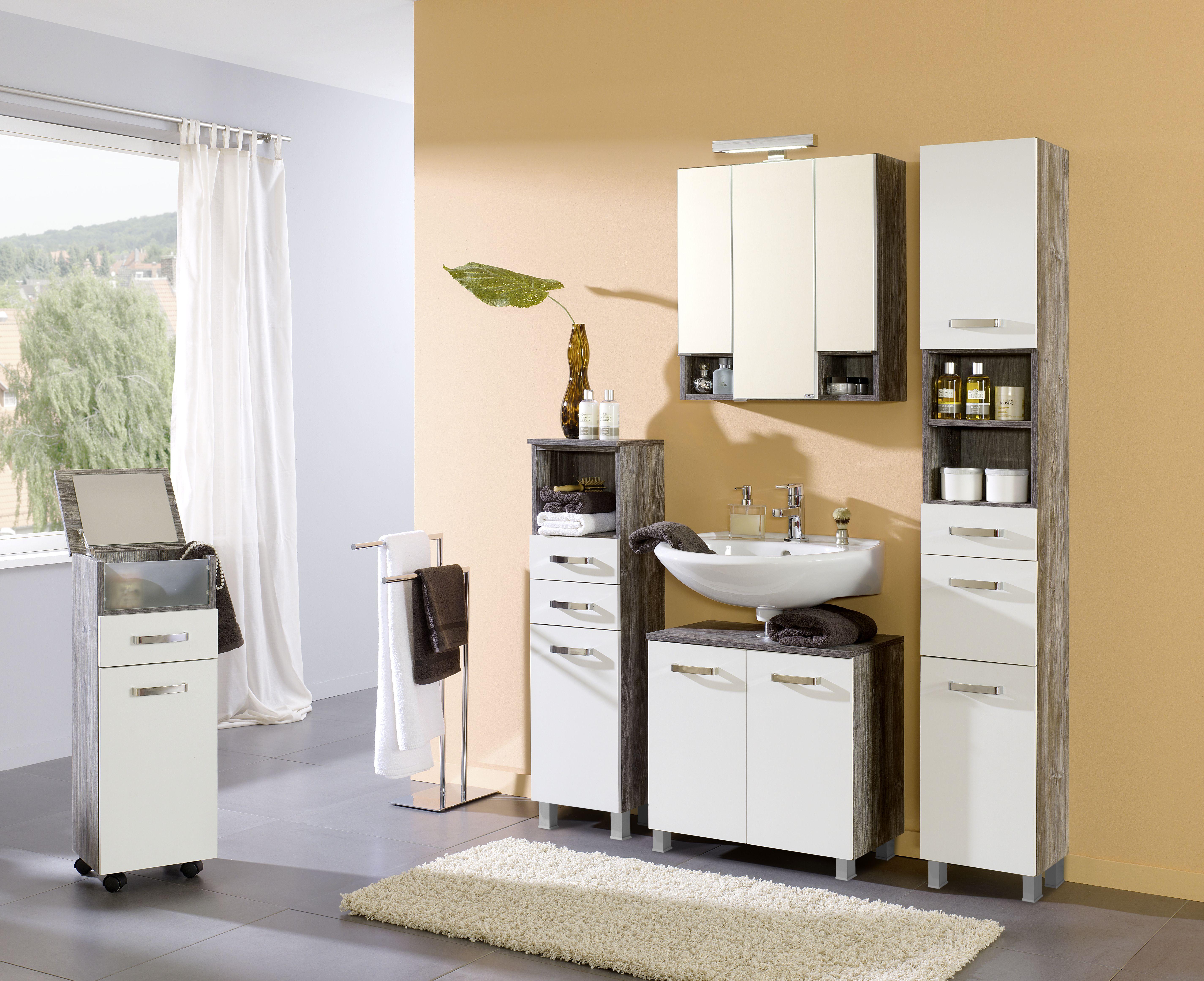 unterbeckenschrank 60 capri von held m bel wei eiche vintage. Black Bedroom Furniture Sets. Home Design Ideas
