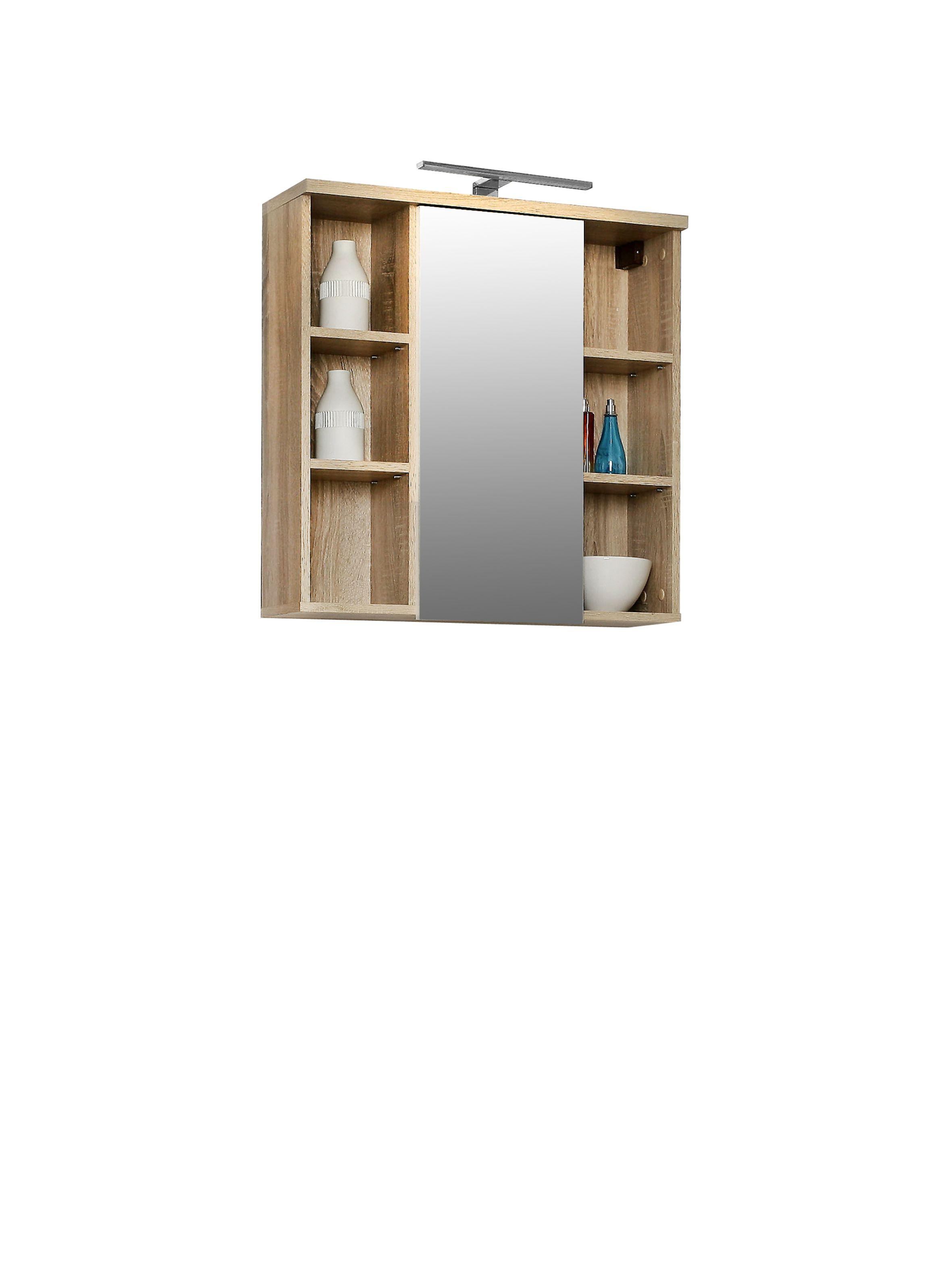 veris badezimmer h ngeschrank inkl led u spiegel. Black Bedroom Furniture Sets. Home Design Ideas